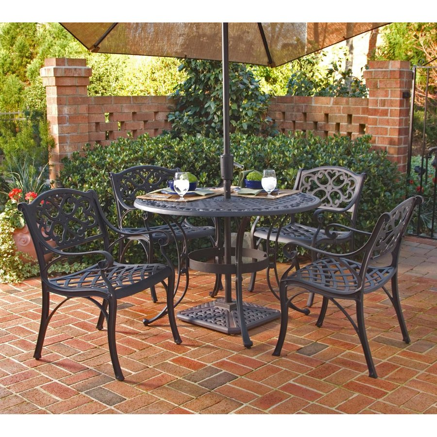 patio dining sets black photo - 1
