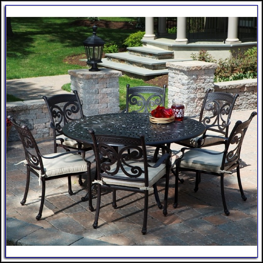 patio dining sets black photo - 4