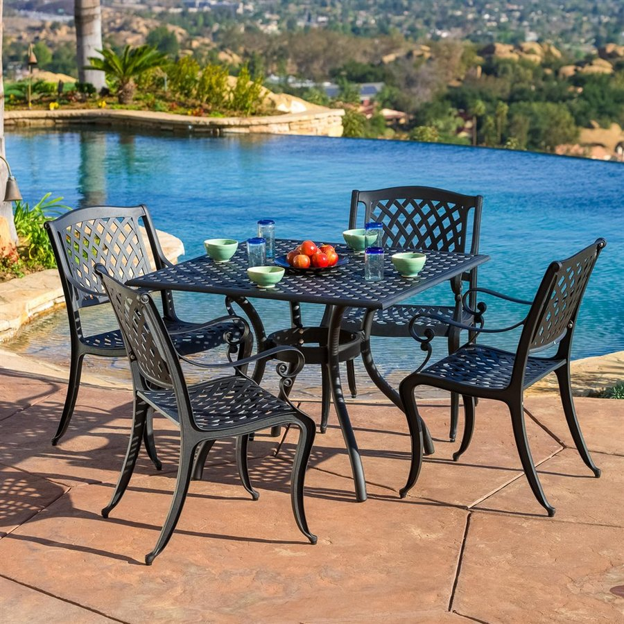 patio dining sets black photo - 5
