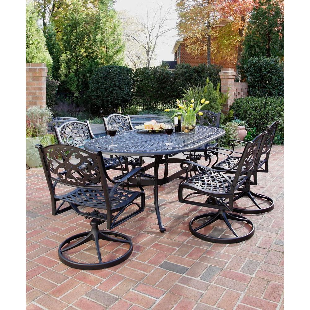 patio dining sets black photo - 8