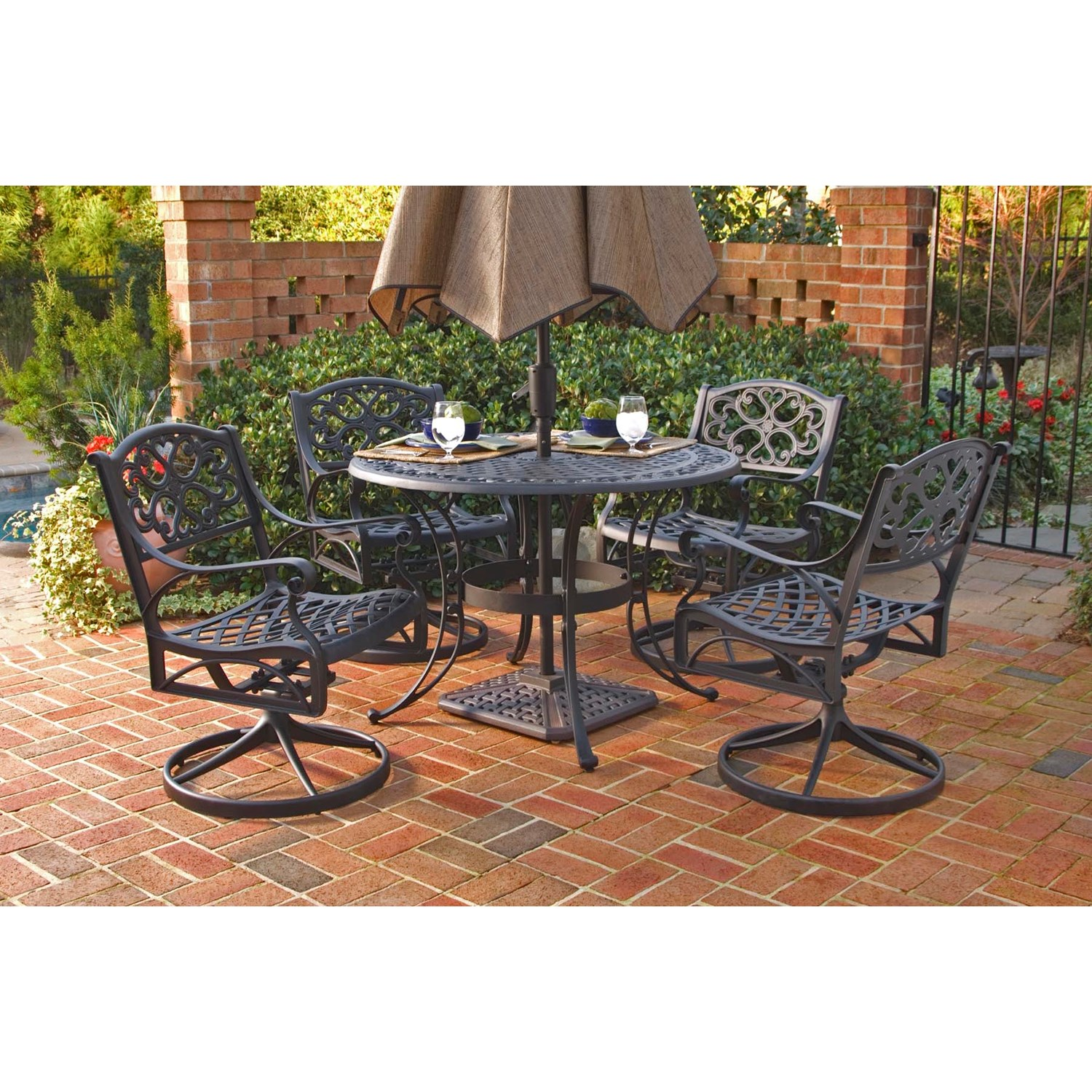 patio dining sets black photo - 9