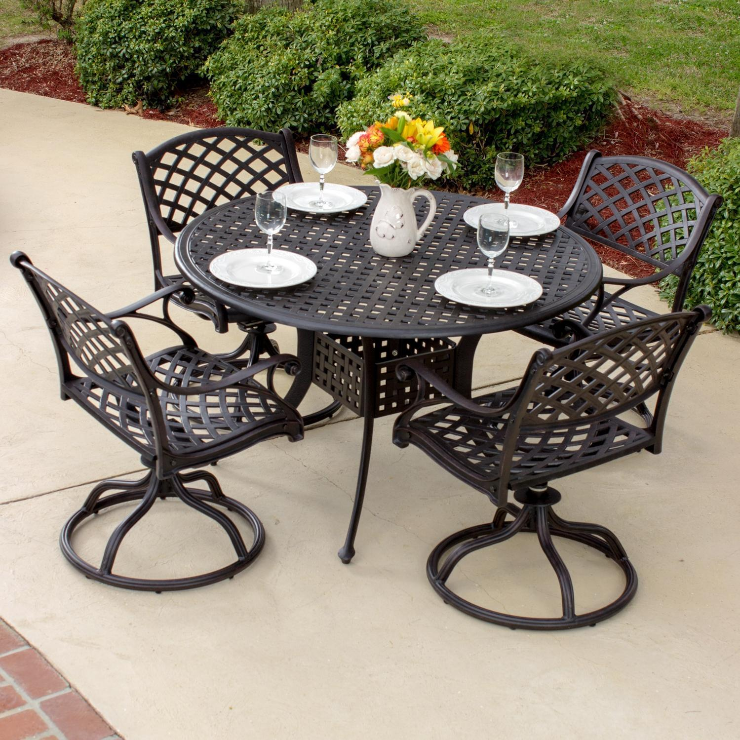 patio dining sets for 4 photo - 4