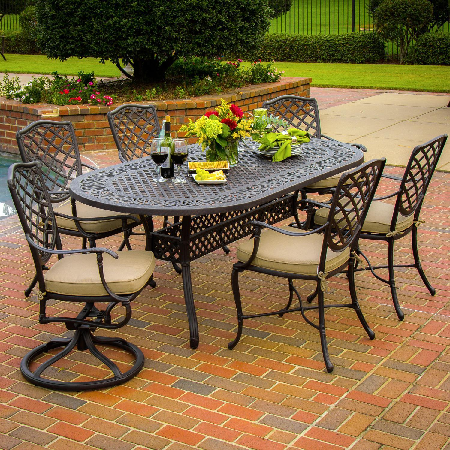 patio dining sets for 6 photo - 10