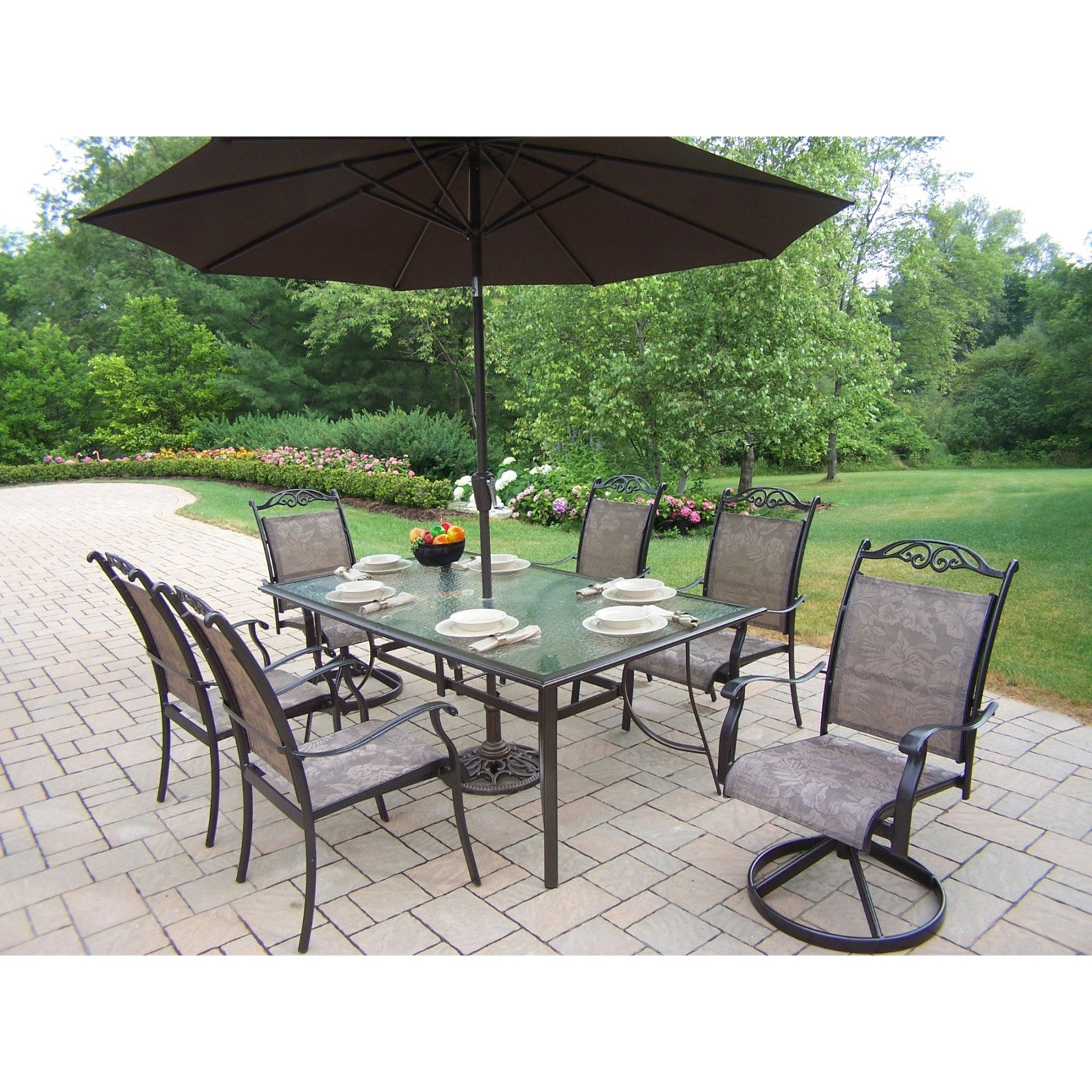 patio dining sets for 6 photo - 3