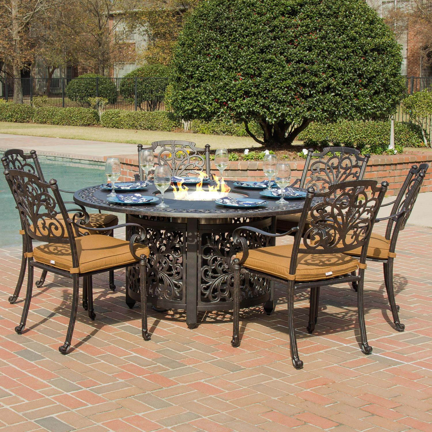patio dining sets for 6 photo - 4