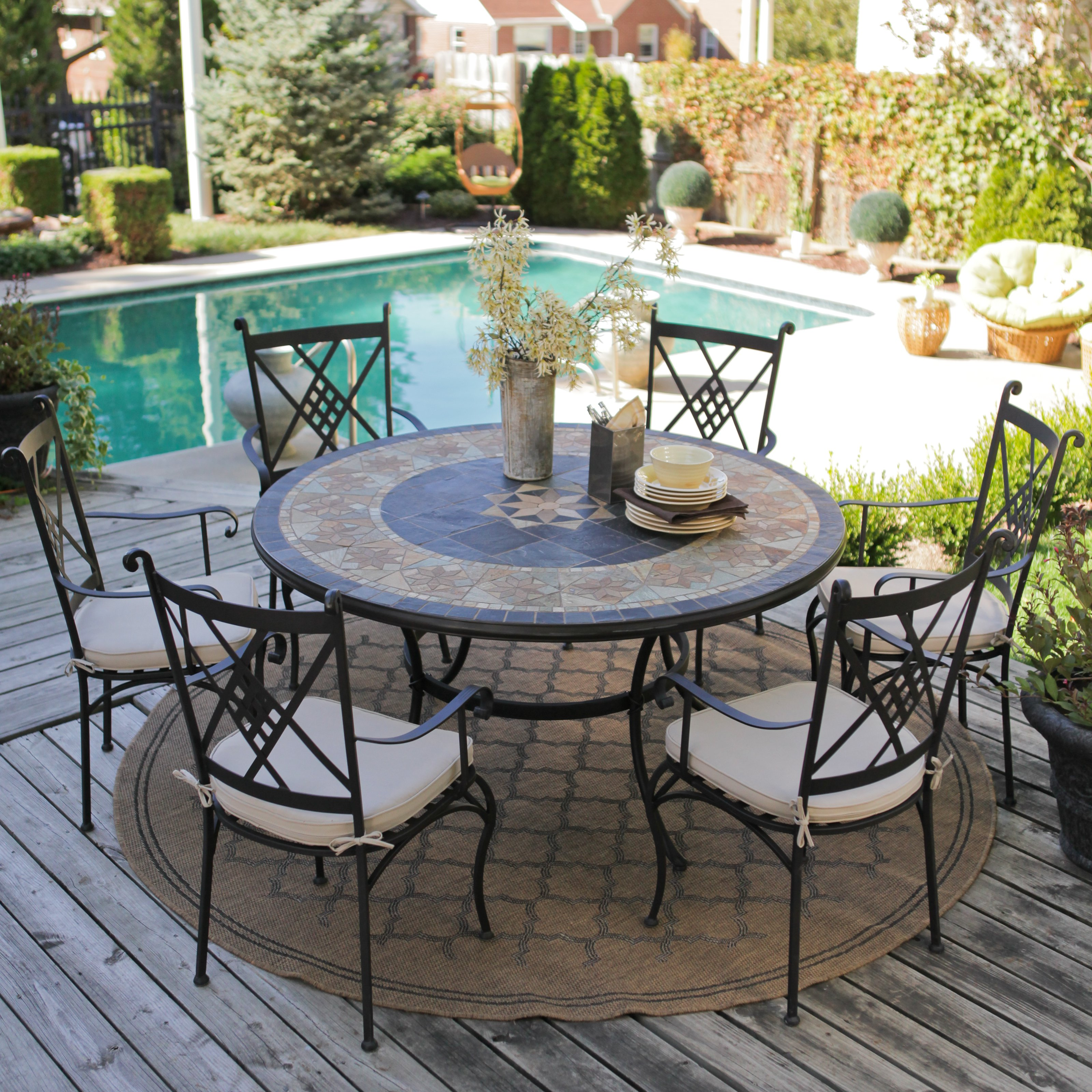 patio dining sets for 6 photo - 5