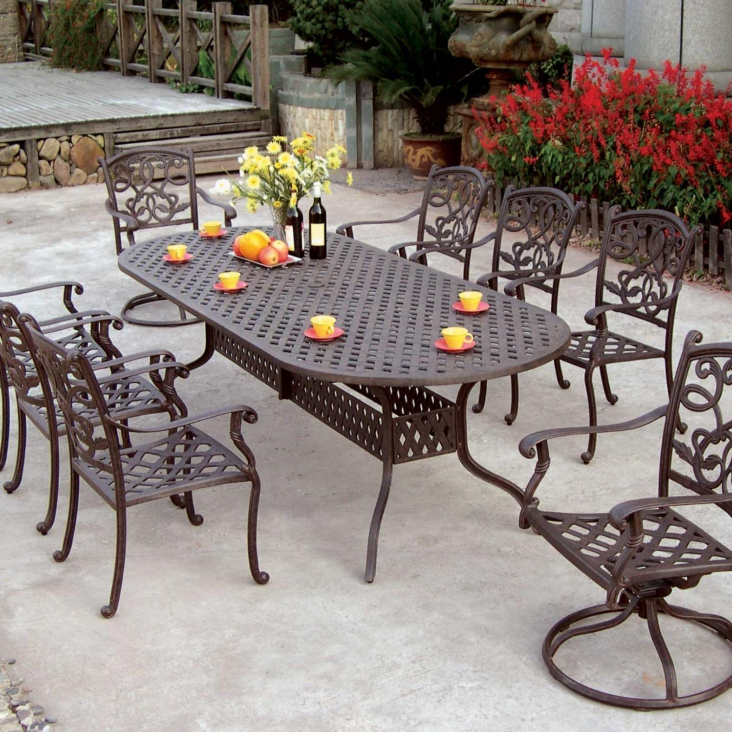 patio dining sets for 8 photo - 6