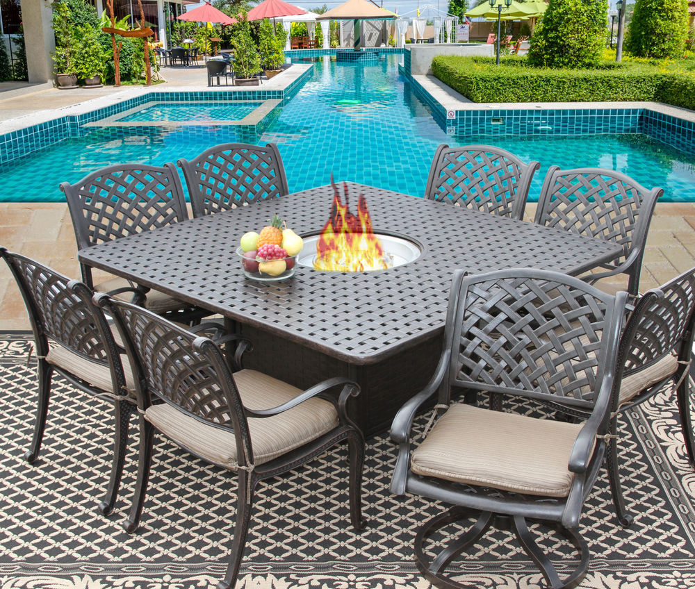 patio dining sets for 8 people photo - 1