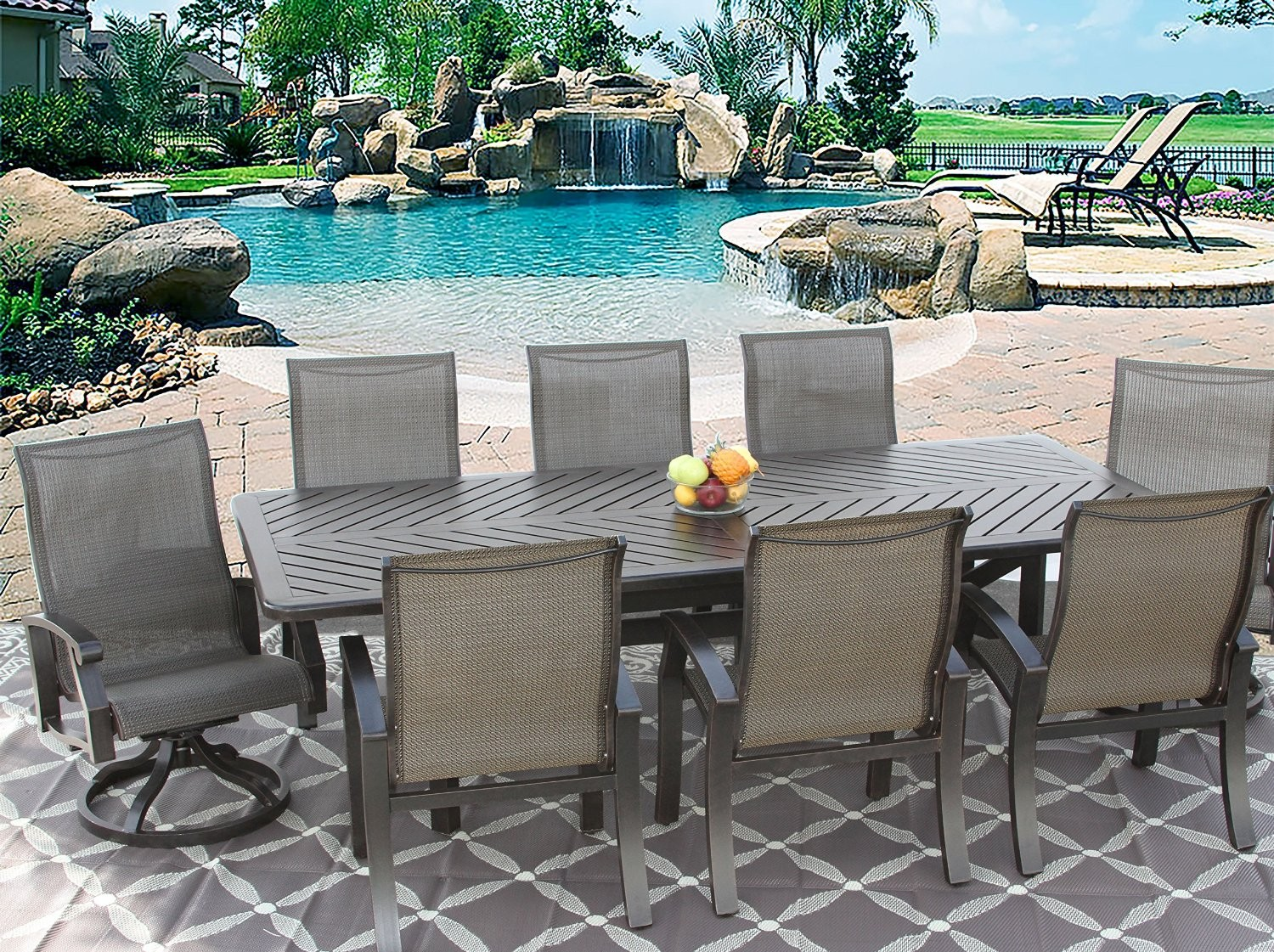 patio dining sets for 8 people photo - 2