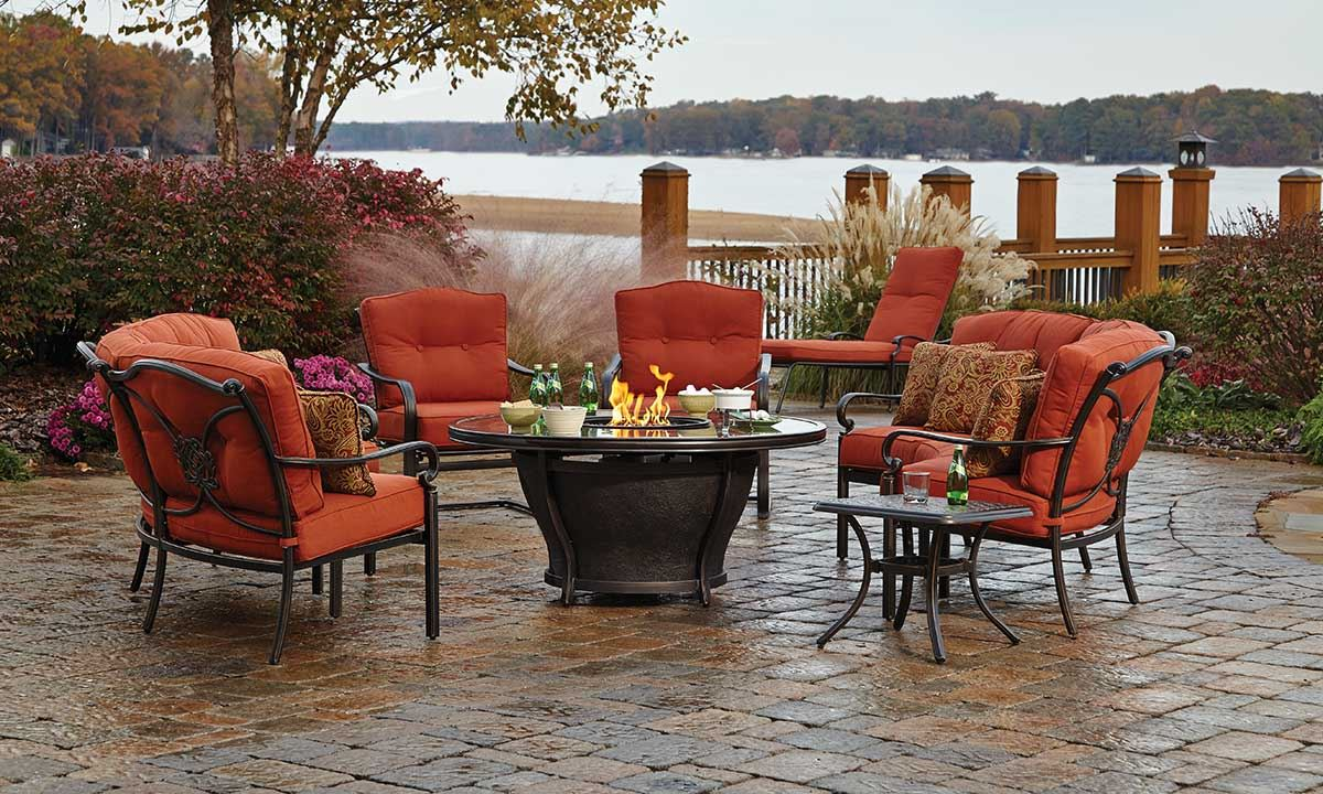 patio dining sets with fire pits photo - 10
