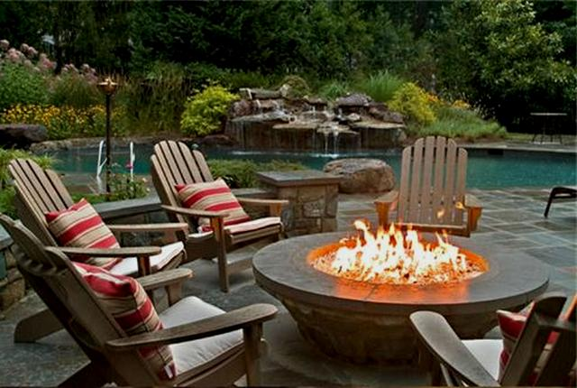 patio dining sets with fire pits photo - 5