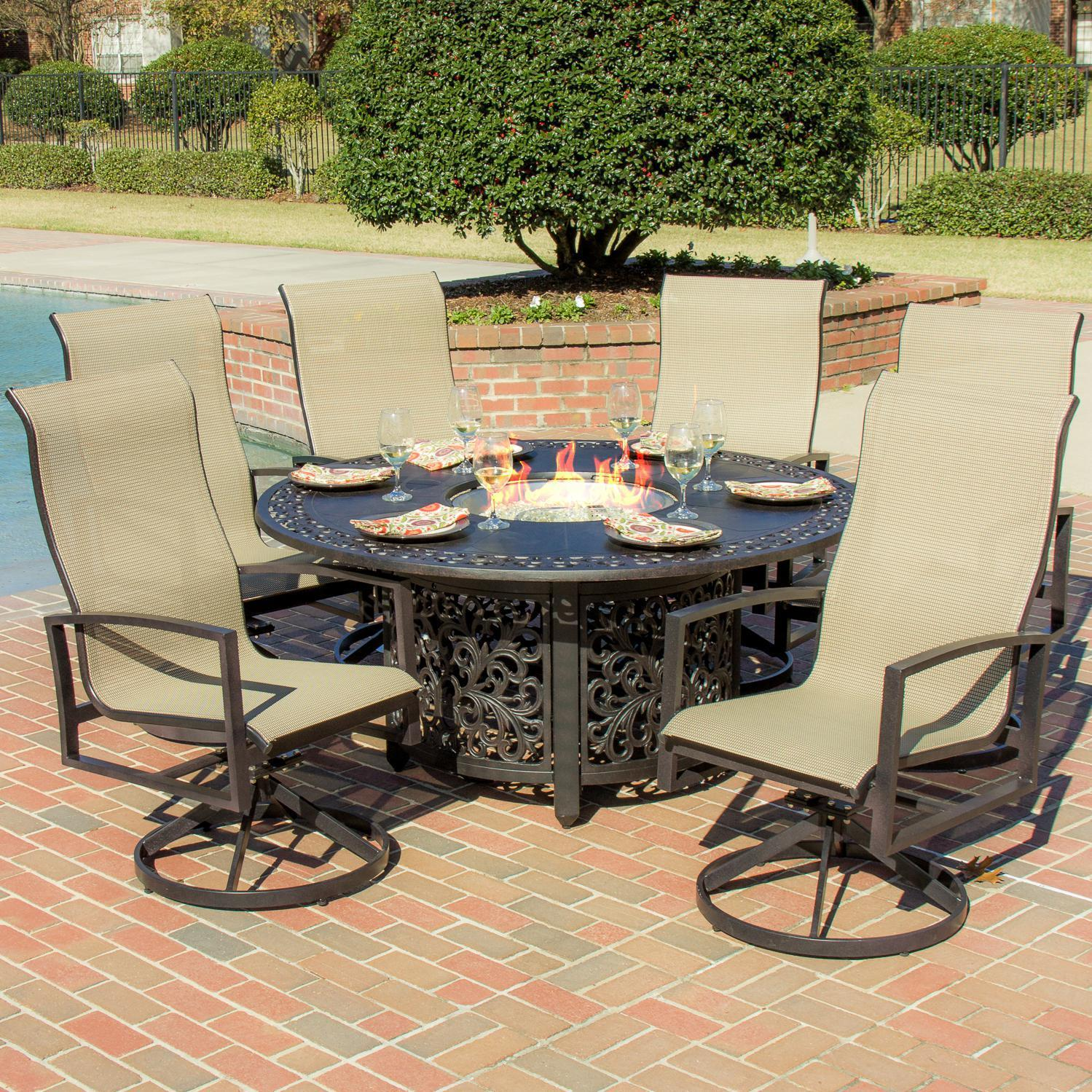 patio dining sets with fire pits photo - 6