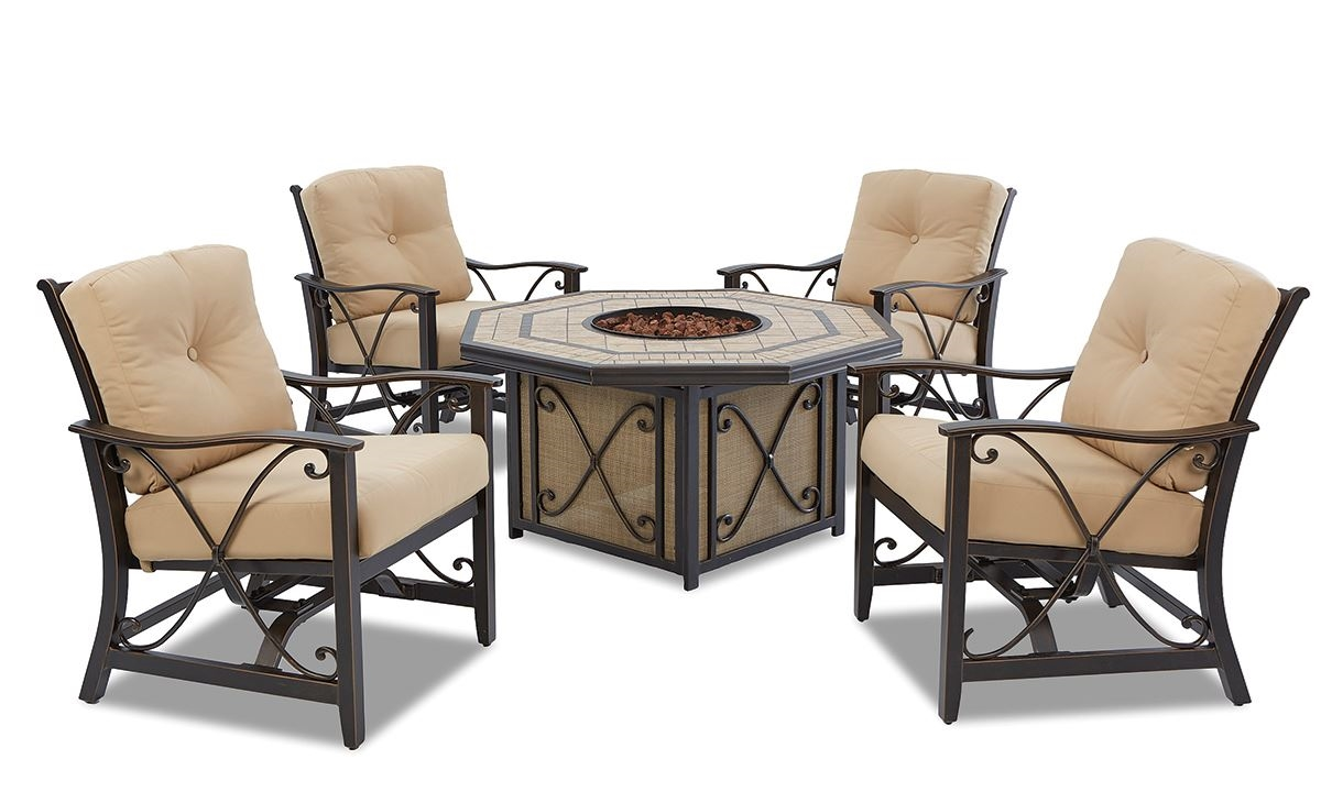 patio dining sets with fire pits photo - 7