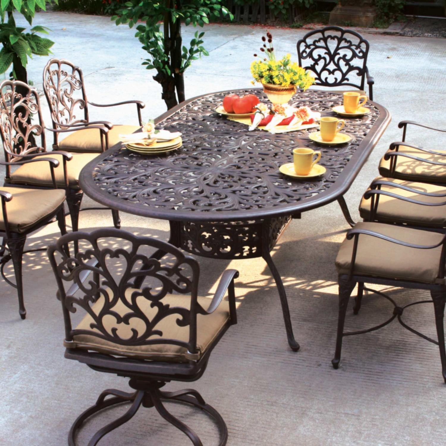 patio dining sets with fire pits photo - 8