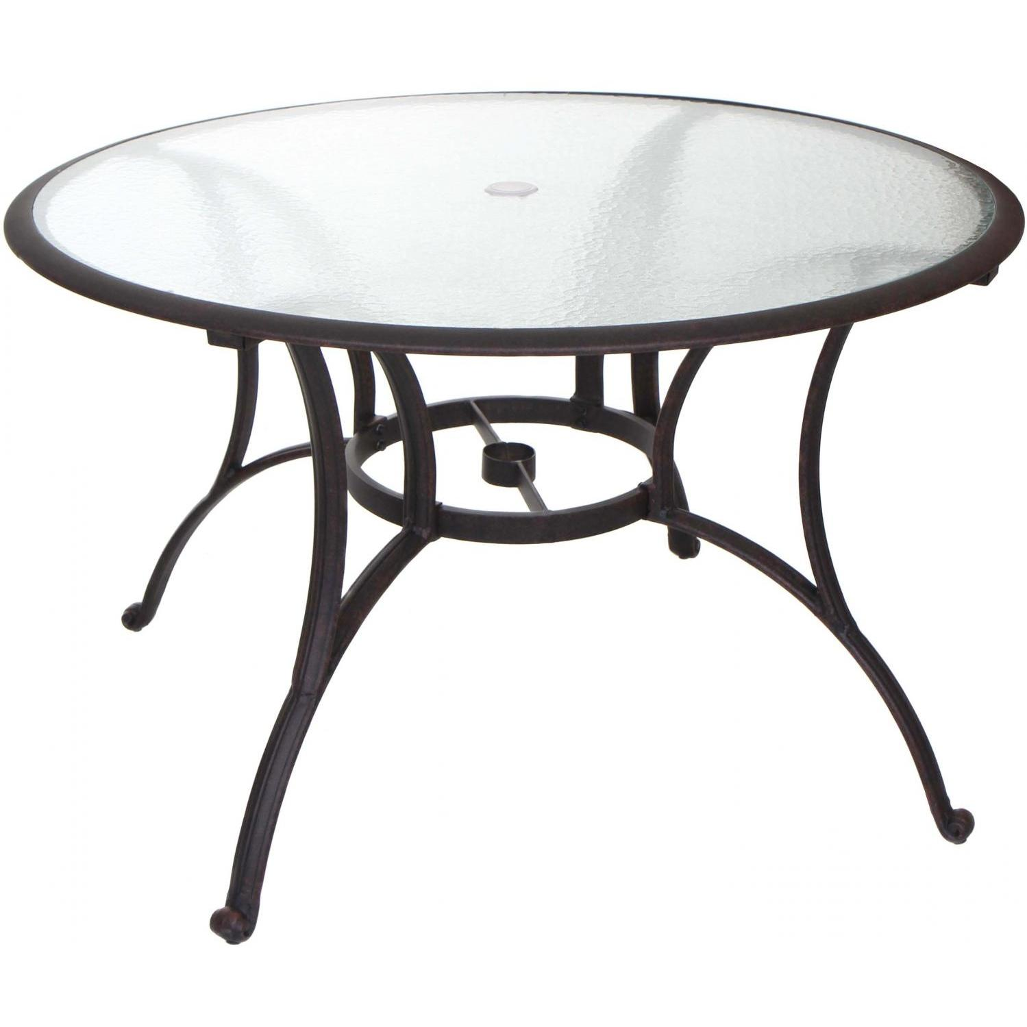 patio dining table glass top photo - 10