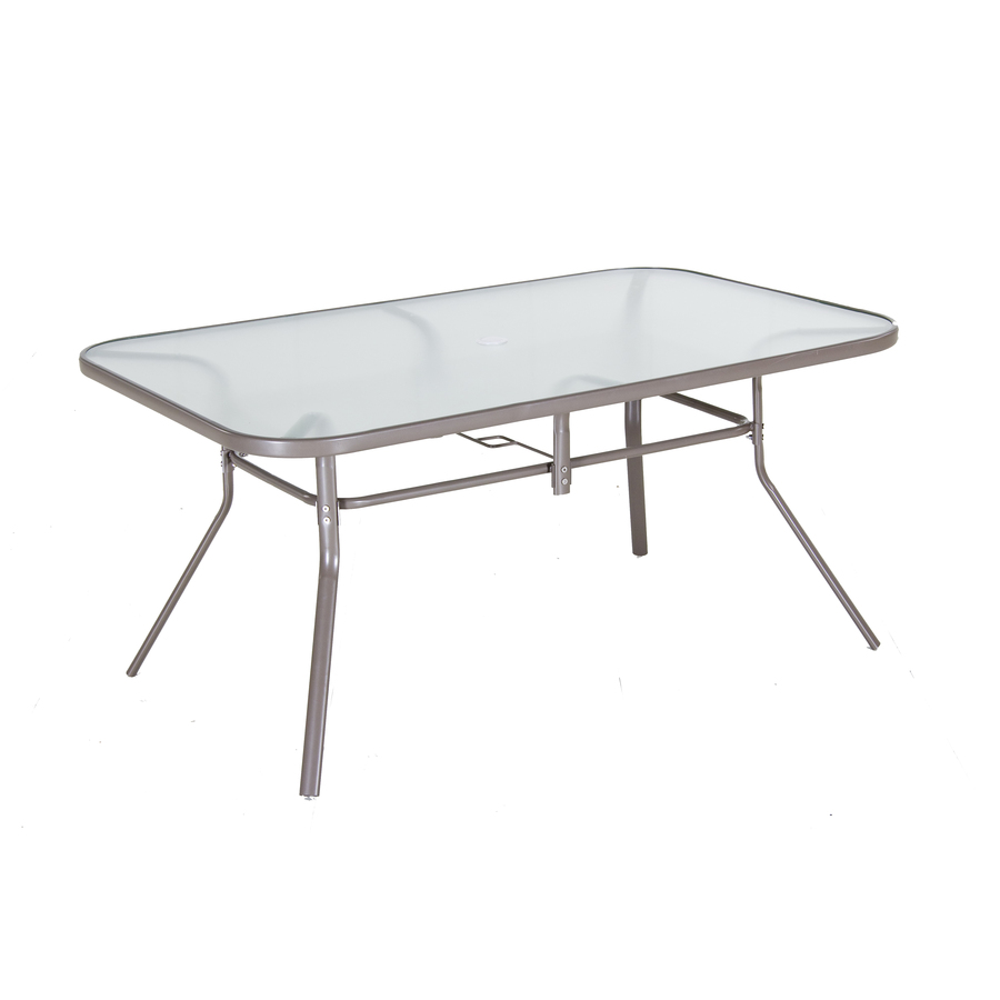 patio dining table glass top photo - 2