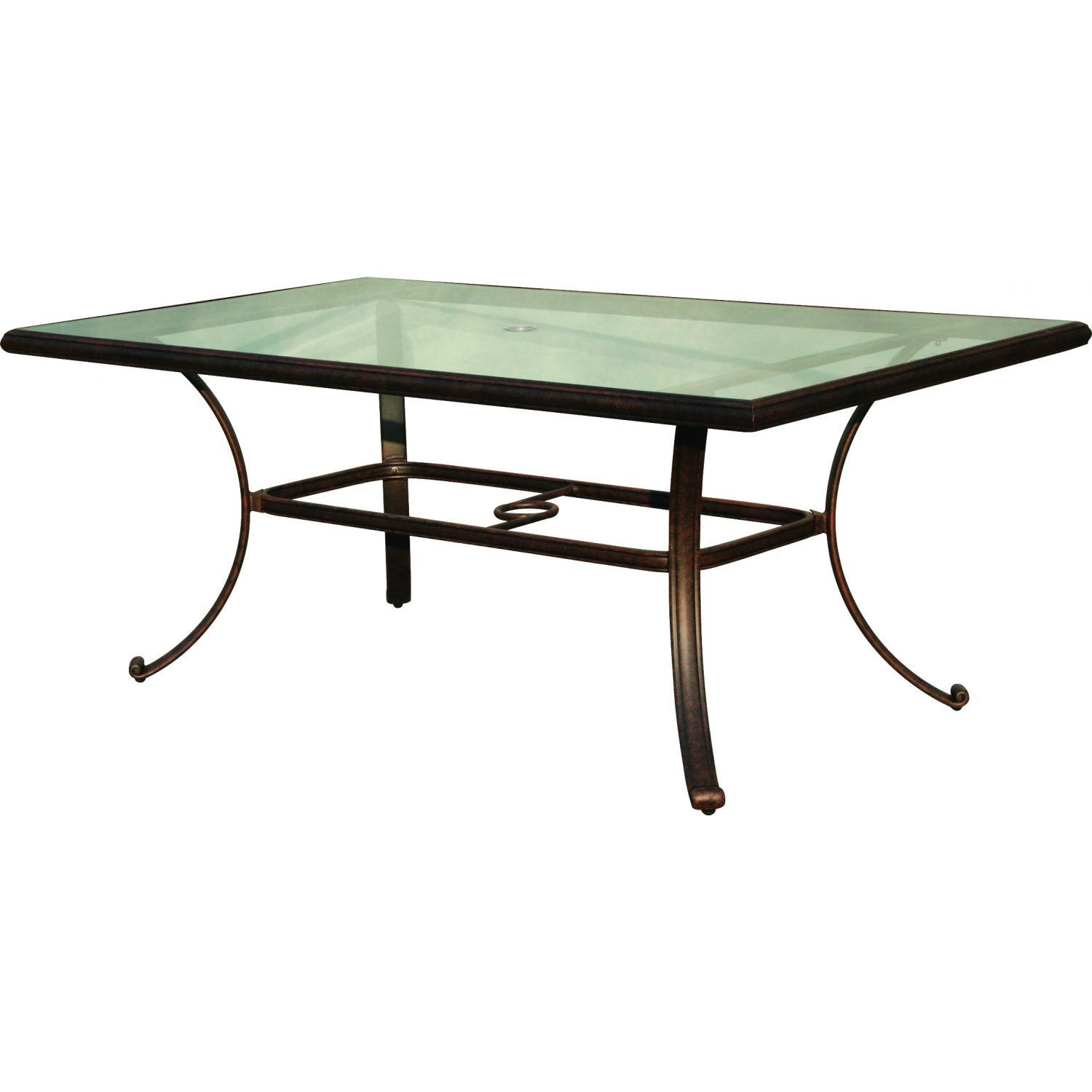 patio dining table glass top photo - 4