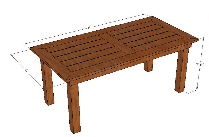patio dining table plans photo - 1