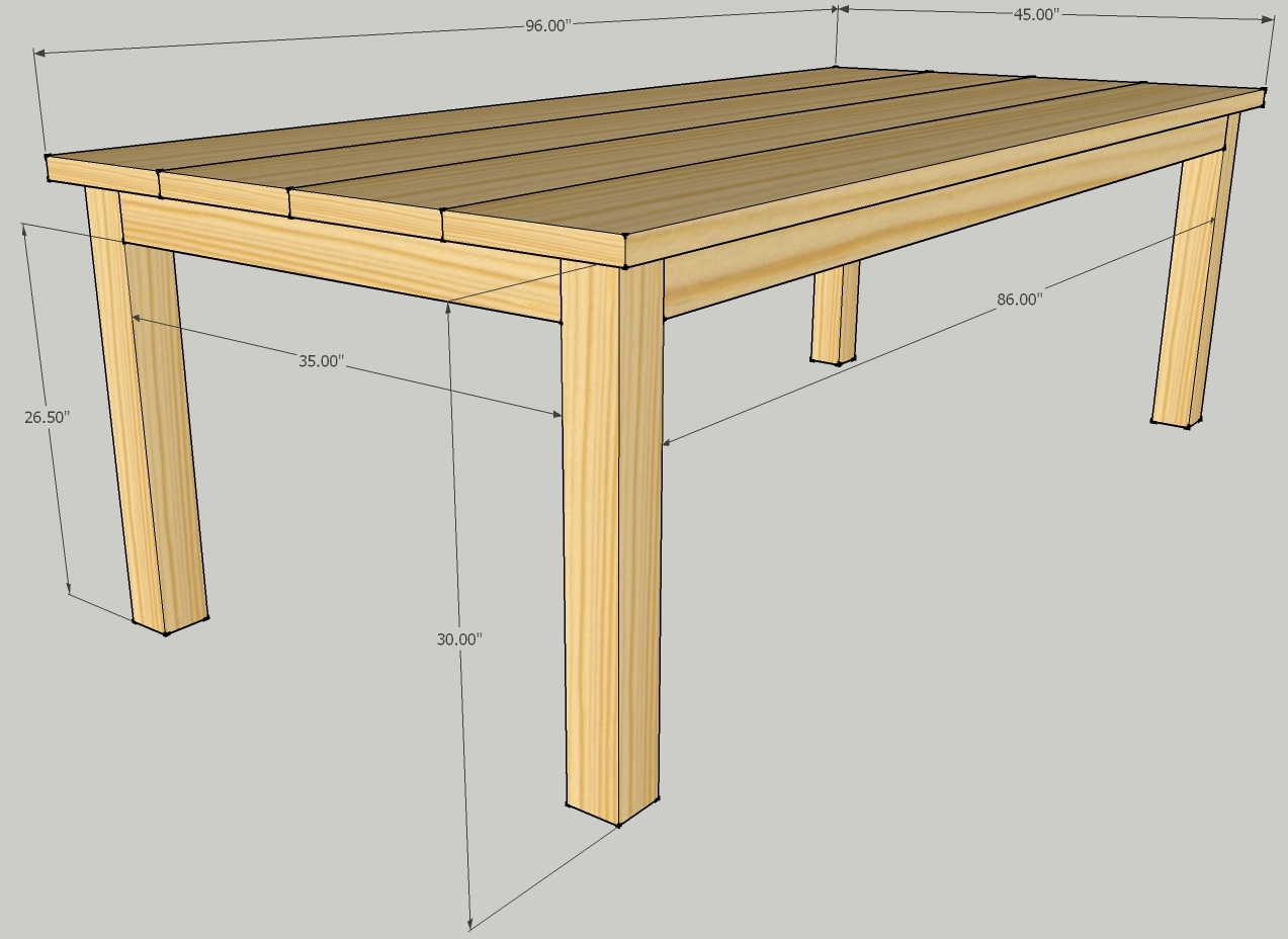 patio dining table plans photo - 4