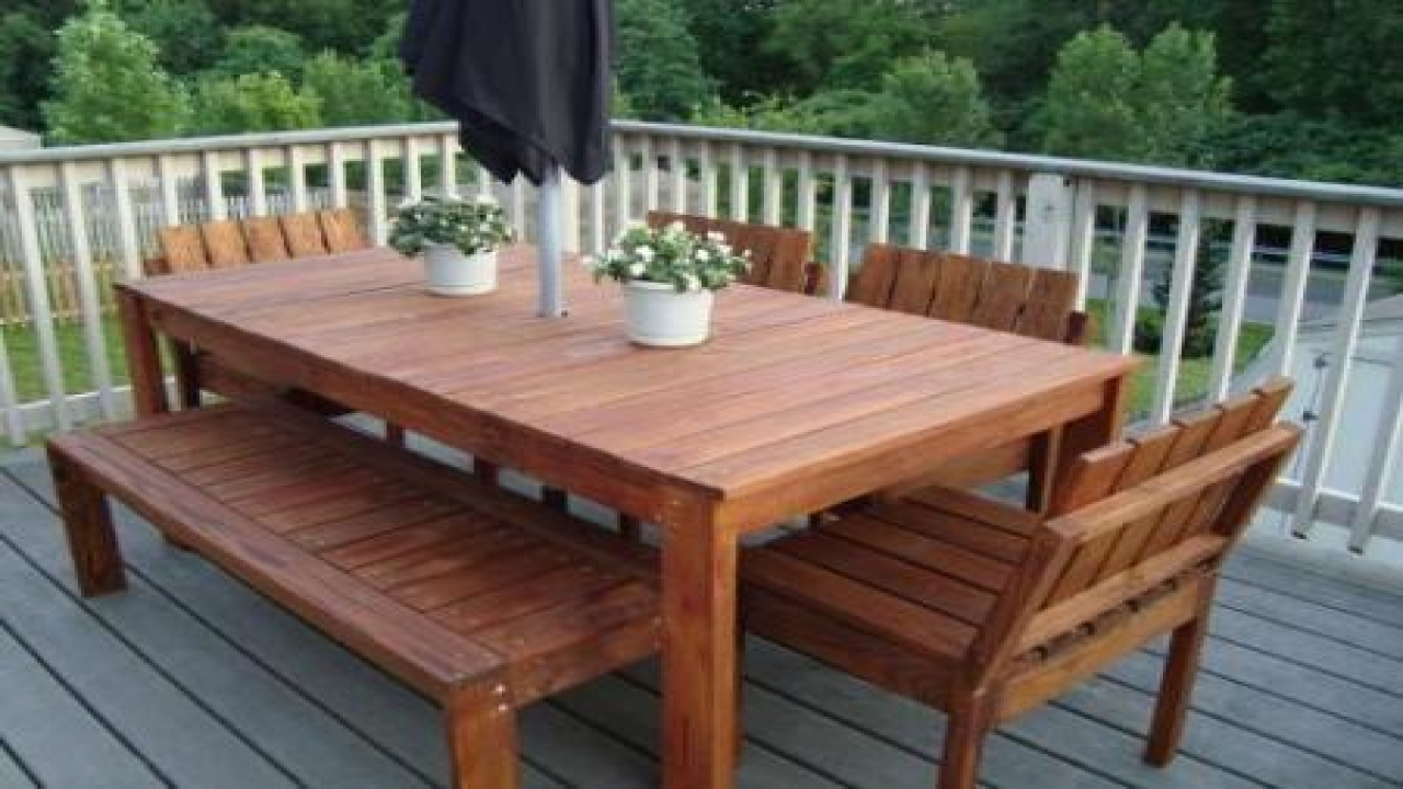 patio dining table plans photo - 7