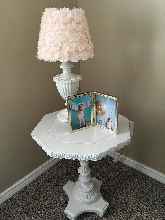 peach bedroom lamp photo - 6