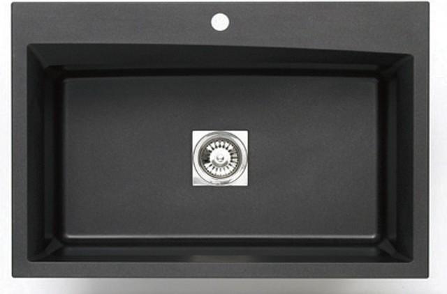 pegasus black granite kitchen sink photo - 1