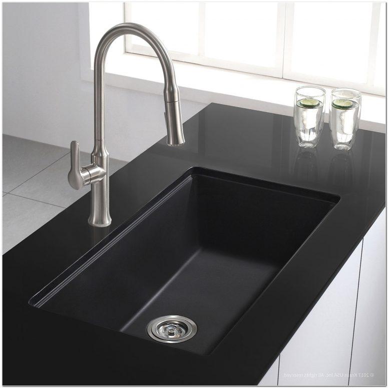 pegasus black granite kitchen sink photo - 10
