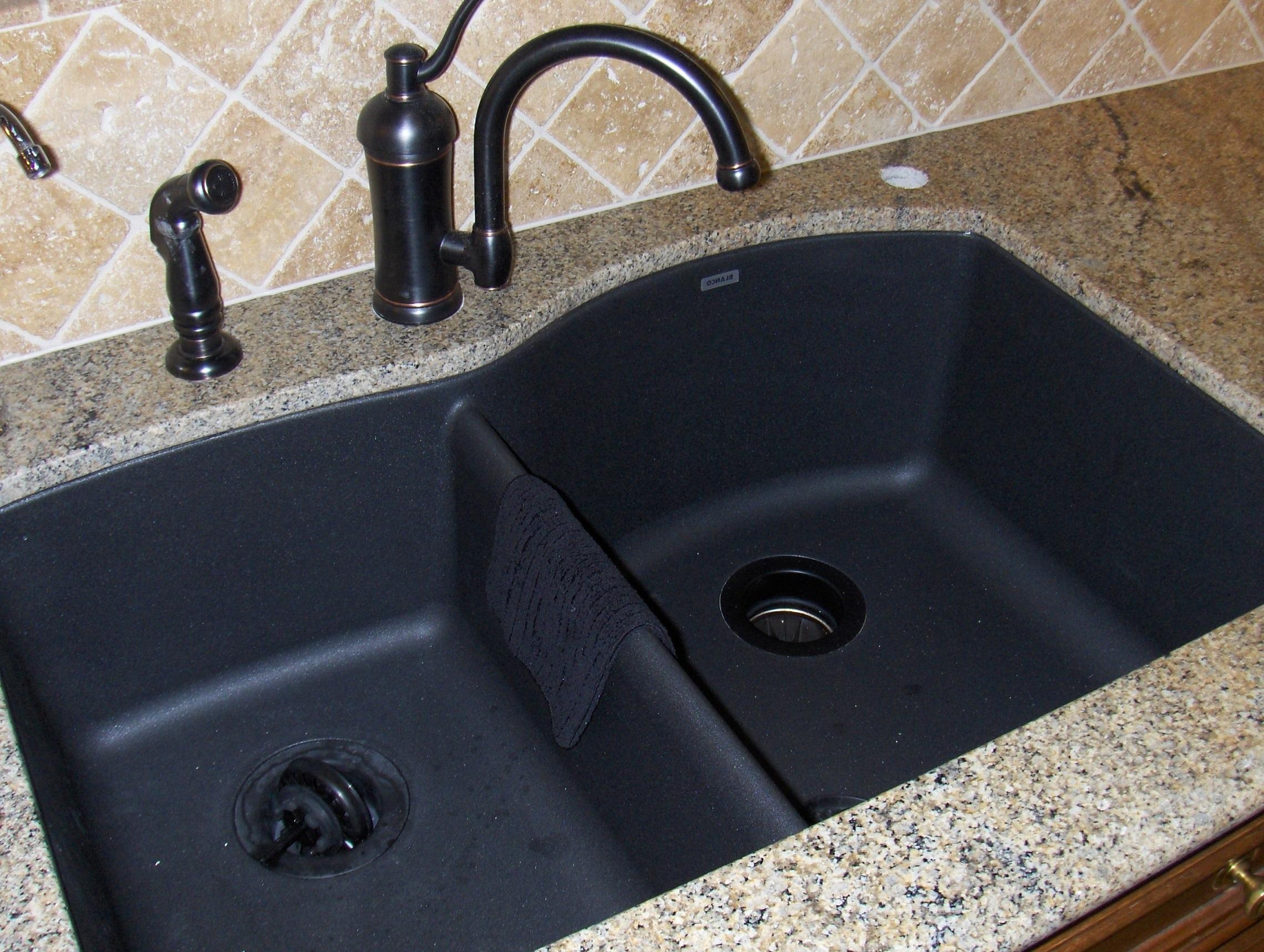 pegasus black granite kitchen sink photo - 3