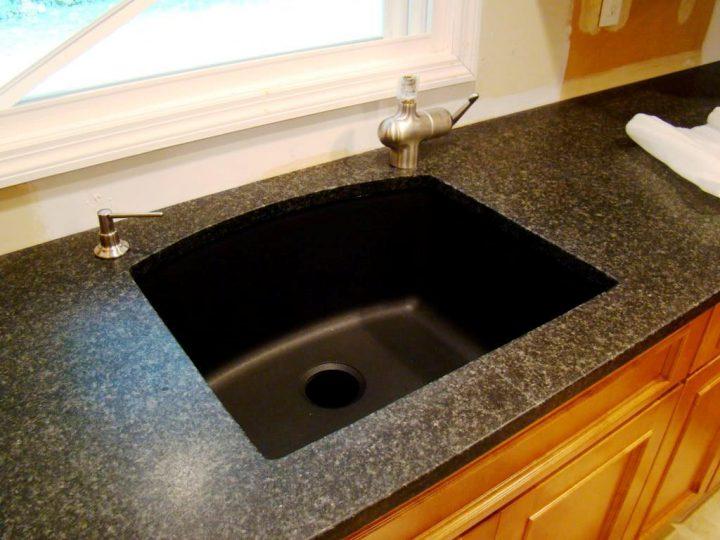pegasus black granite kitchen sink photo - 5