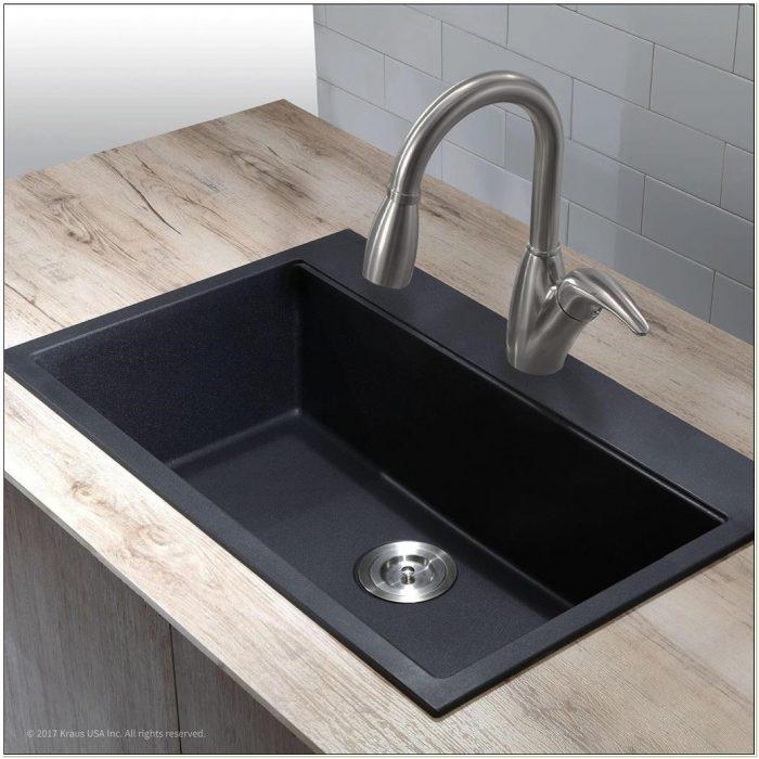 pegasus black granite kitchen sink photo - 7