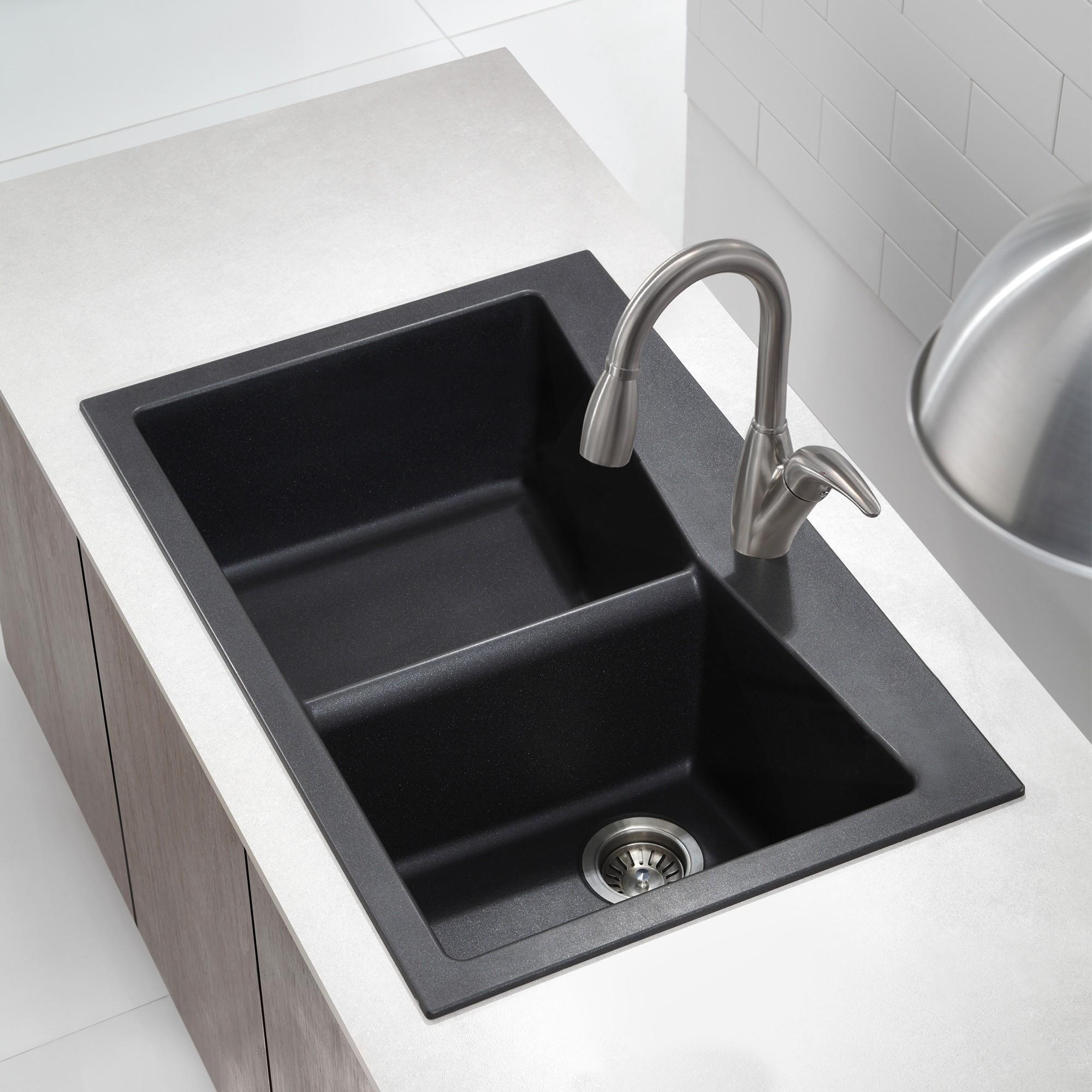 pegasus black granite kitchen sink photo - 8