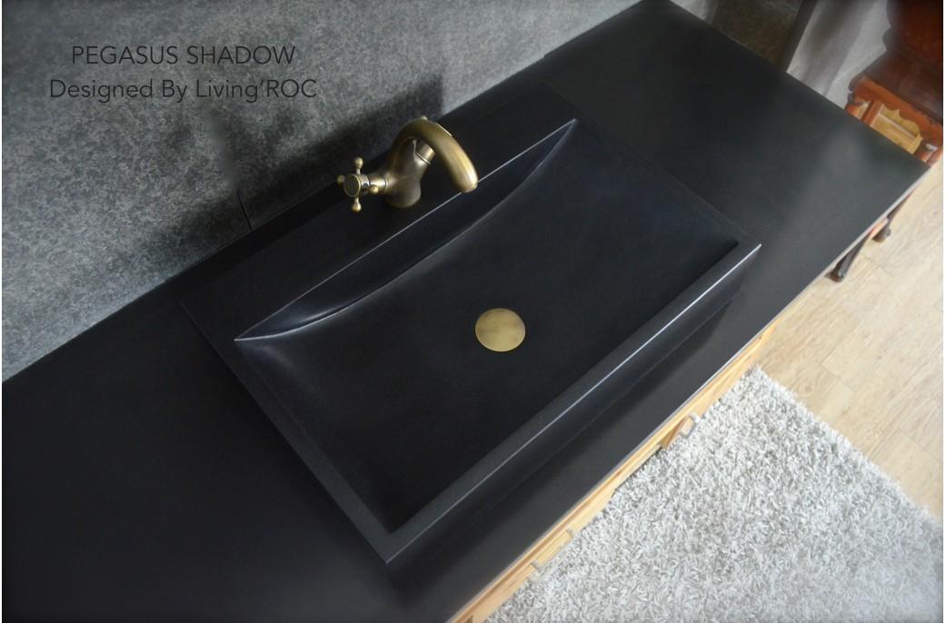 pegasus black granite sink photo - 4