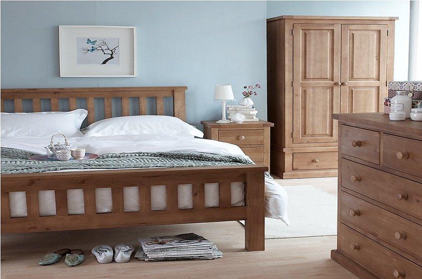 pine bedroom furniture decorating ideas photo - 1