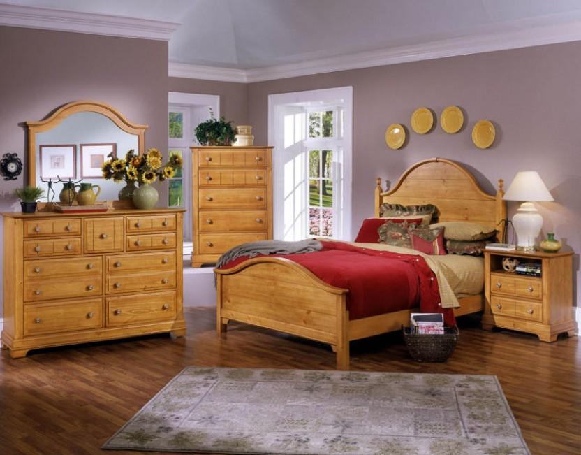 pine bedroom furniture decorating ideas photo - 6