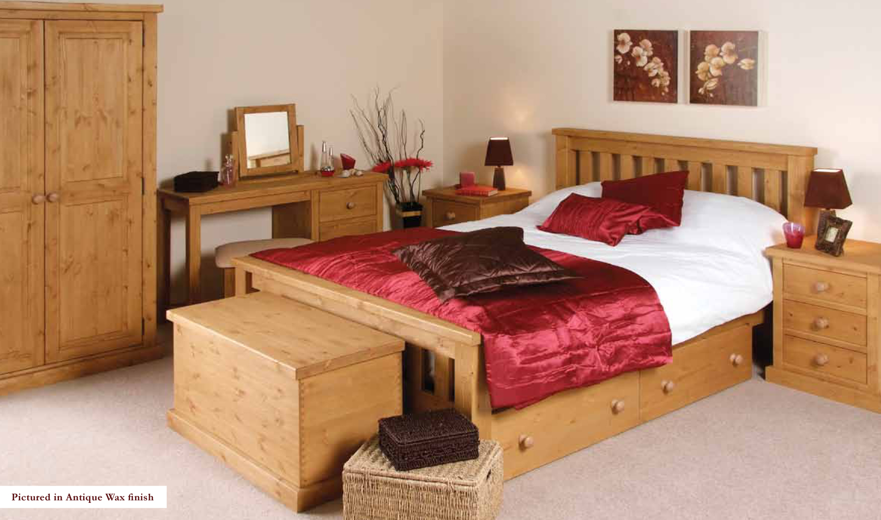 pine bedroom furniture decorating ideas photo - 8