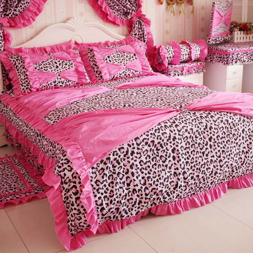 Pink Cheetah Print Bedroom Set Photo   5