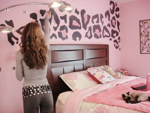 pink leopard print bedroom accessories photo - 5