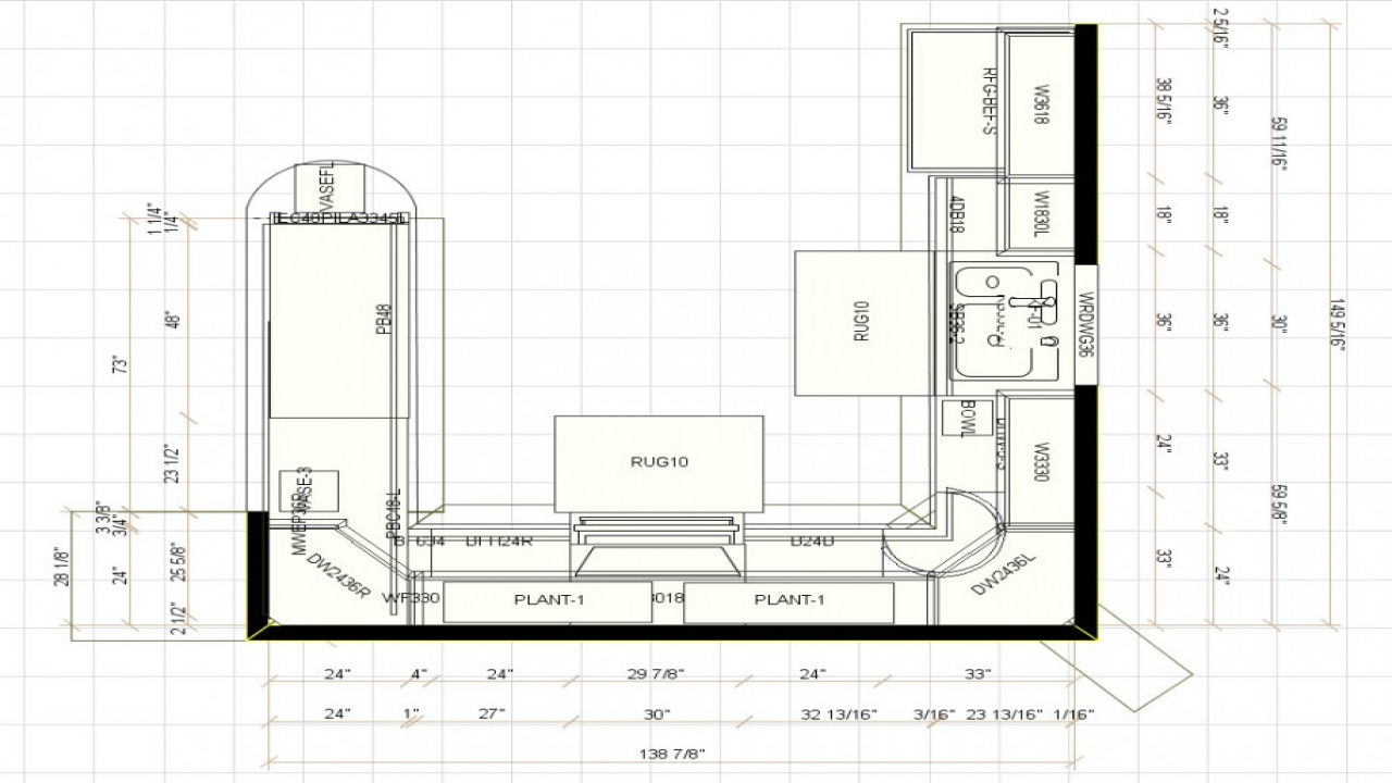 plans for u shaped kitchen photo - 1