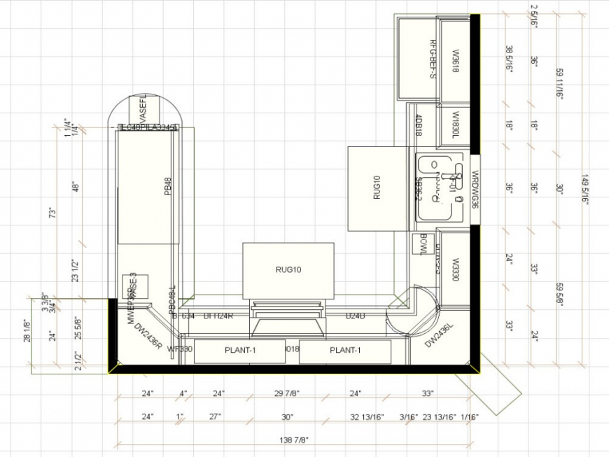 plans for u shaped kitchen photo - 2