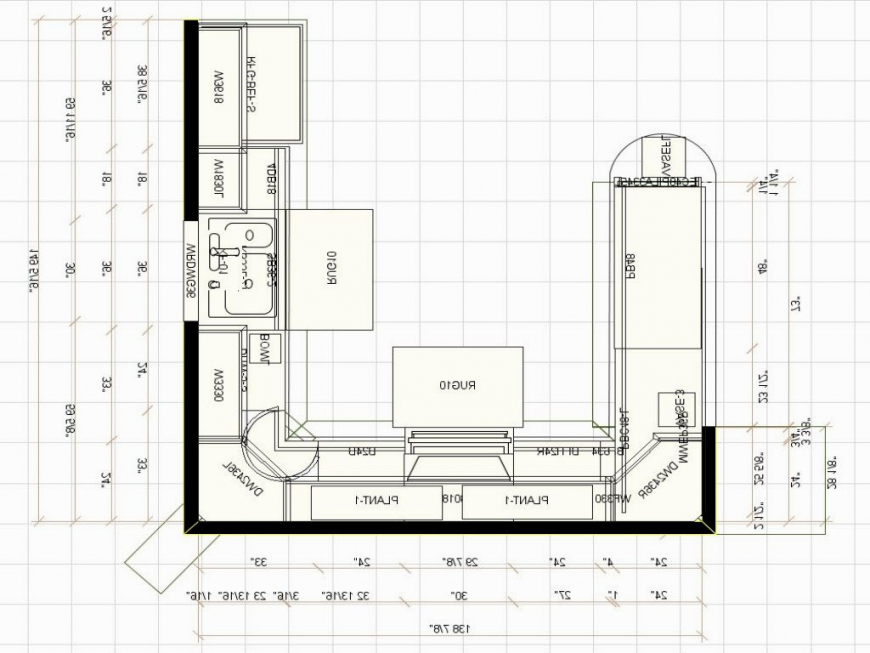 plans for u shaped kitchen photo - 4