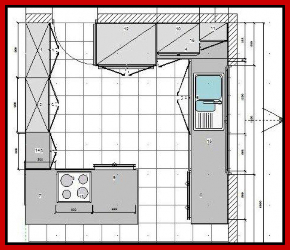 plans for u shaped kitchen photo - 7