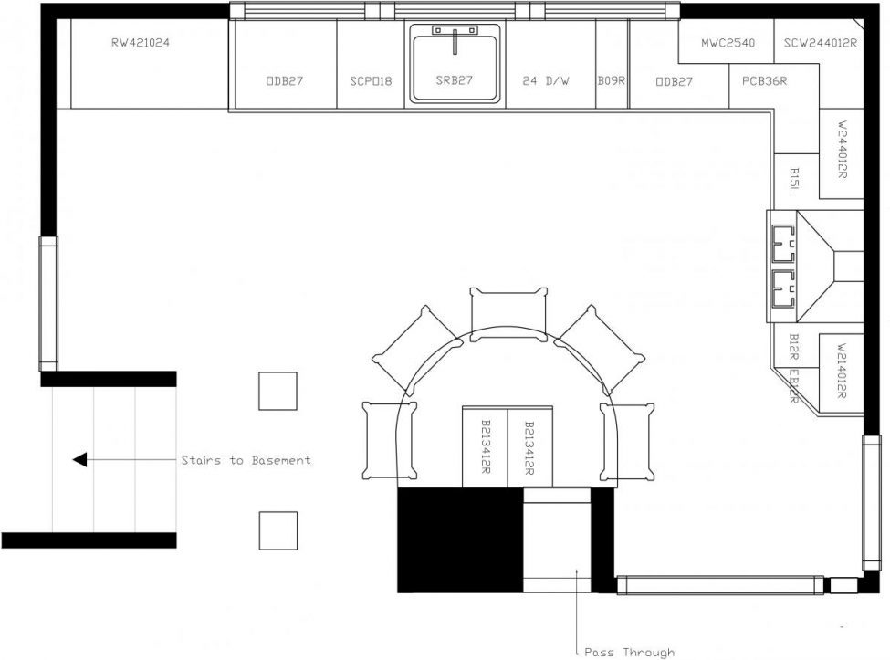plans for u shaped kitchen photo - 8