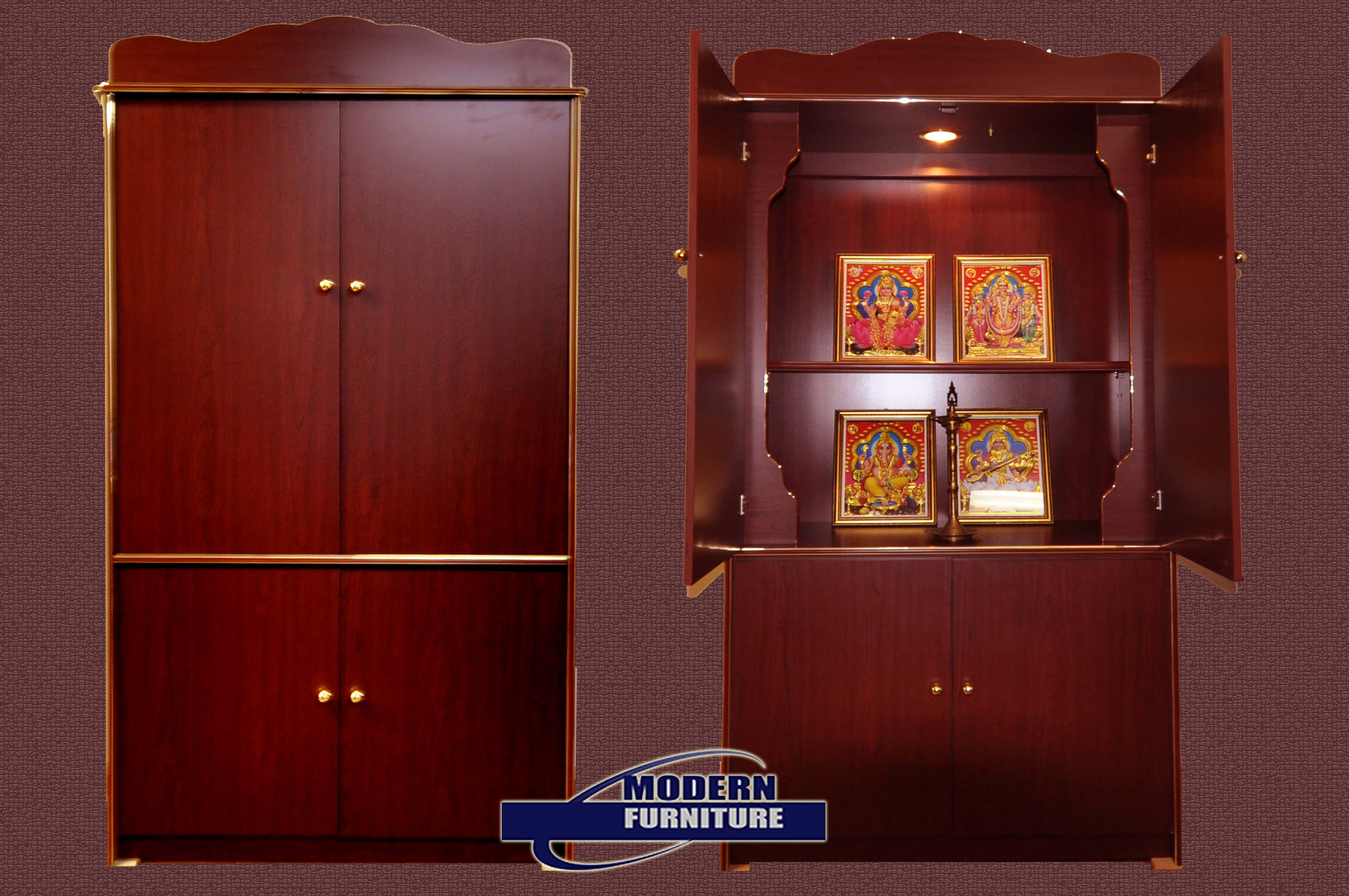 pooja room cupboard designs photo - 1