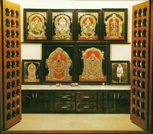 pooja room cupboard designs photo - 2