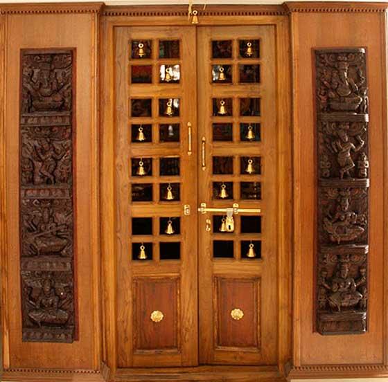 pooja room cupboard designs photo - 8