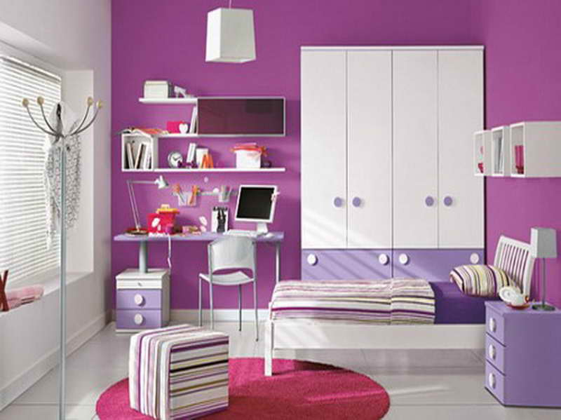 purple color room idea photo - 1
