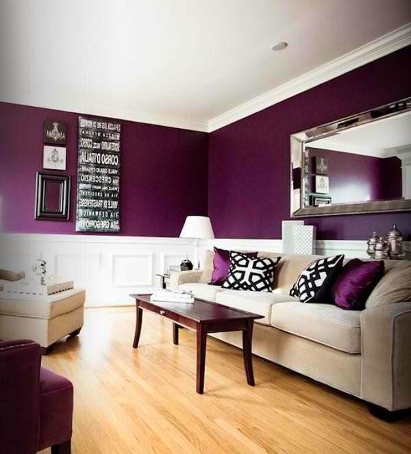 purple color room idea photo - 10