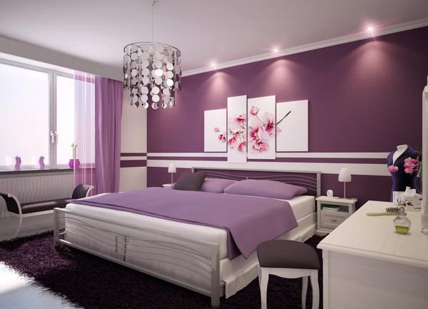 purple color room idea photo - 4