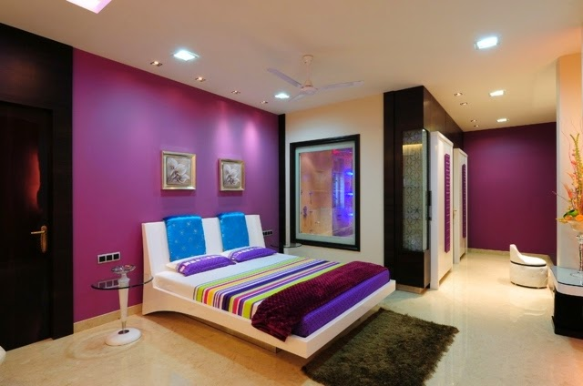 purple color room idea photo - 5