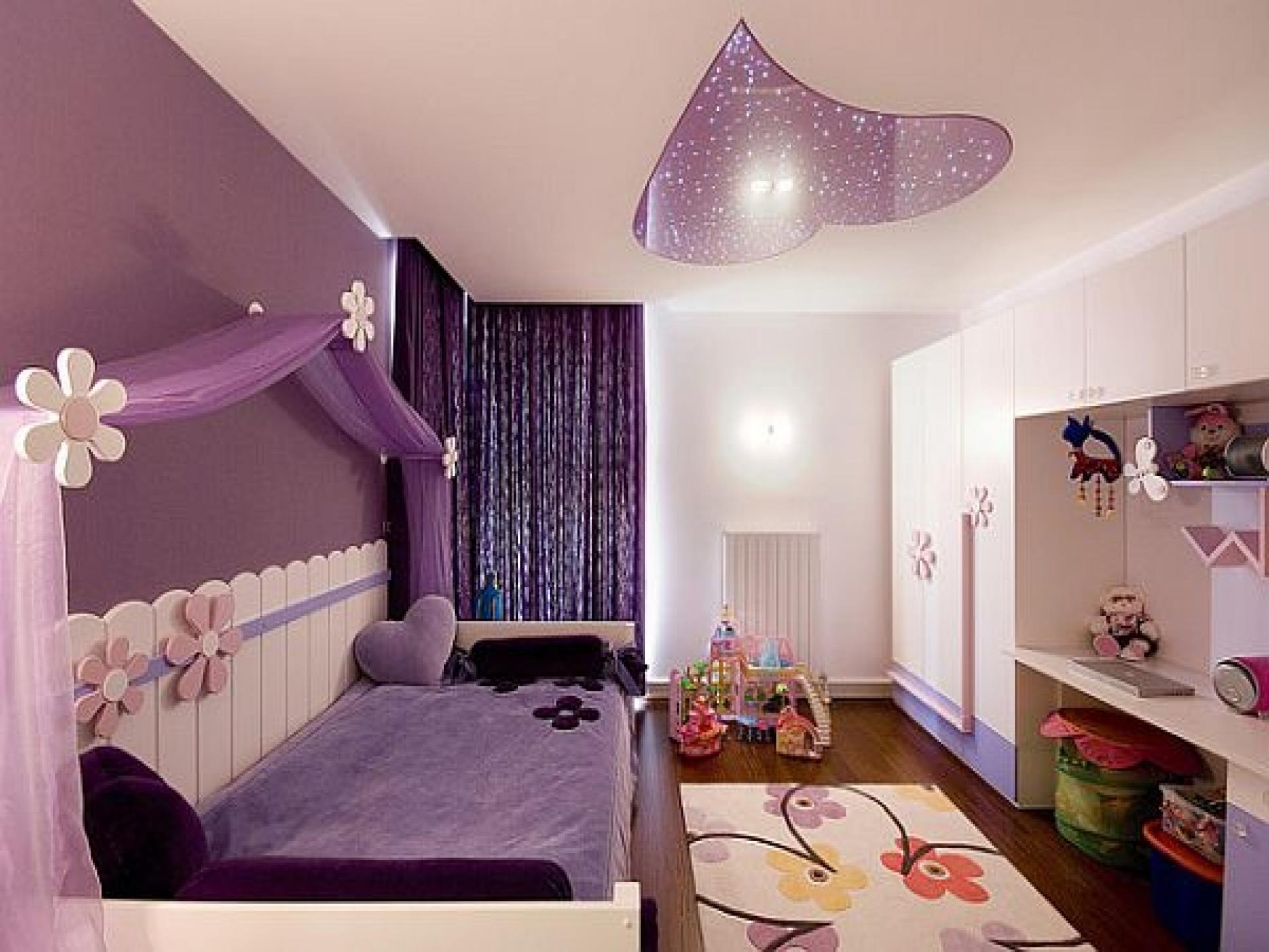 purple color room idea photo - 6